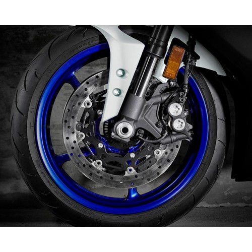 320mm diameter YZF-R1 type front brakes